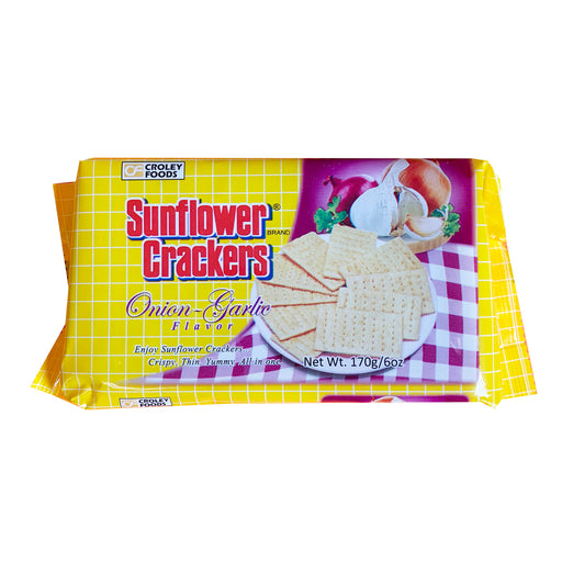 Croley Foods Sunflower Crackers - Onion Garlic Flavor 6oz Front