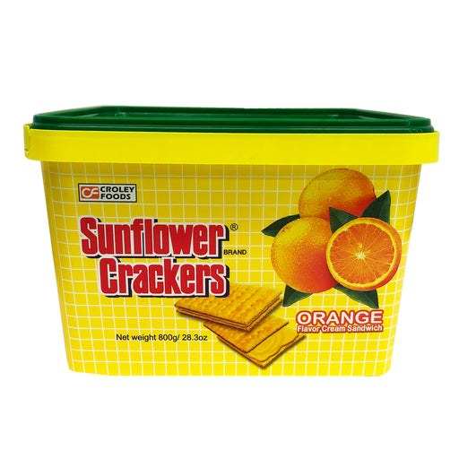 Package Croley Foods Sunflower Crackers - Orange Flavor 28.3oz Front