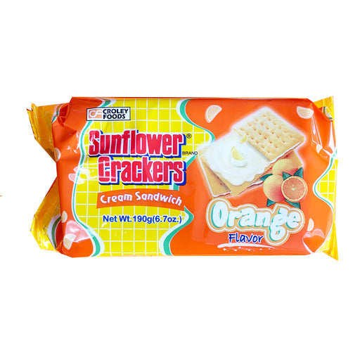 Package Croley Foods Sunflower Crackers - Orange Flavor 6.7oz Front
