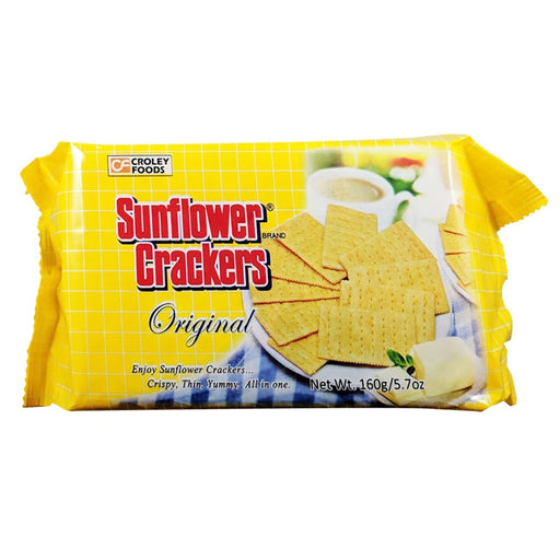 Package Croley Foods Sunflower Crackers - Original Flavor 5.7oz Front