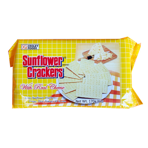 Croley Foods Sunflower Crackers - Real Cheese Flavor 6oz Front
