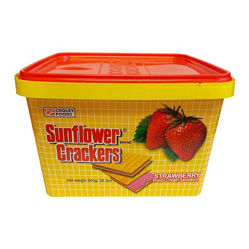 Croley Foods Sunflower Crackers - Strawberry Flavor 28.2oz Front