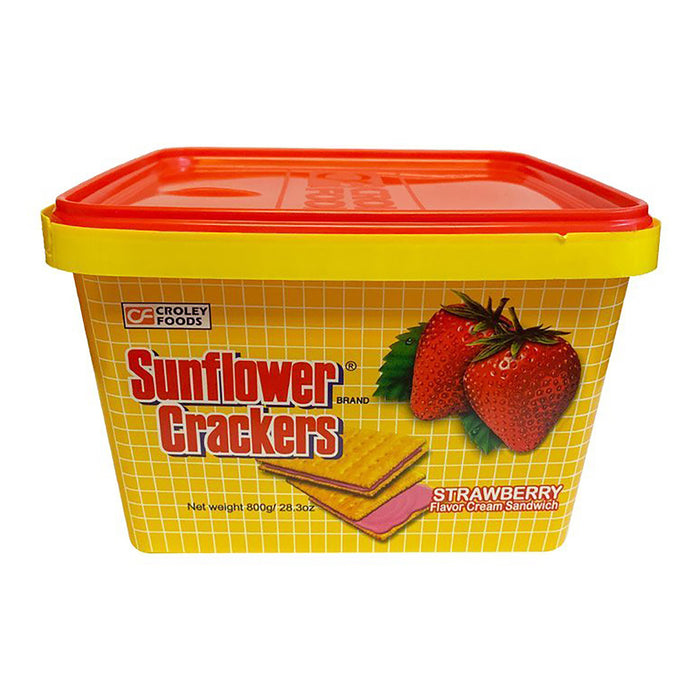 Croley Foods Sunflower Crackers - Strawberry Flavor 28.2oz Image 1