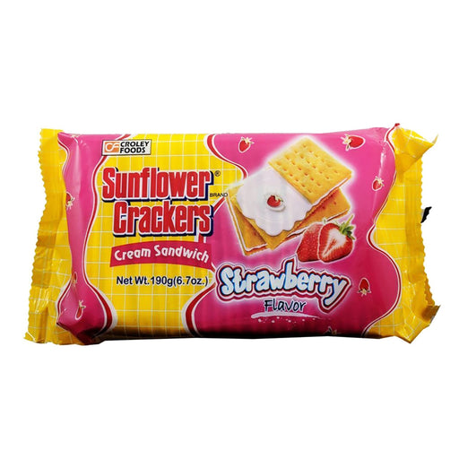 Croley Foods Sunflower Crackers - Strawberry Flavor 6.7oz Front