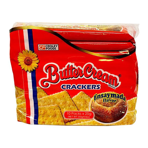Croley Foods Sunflower Crackers Butter Cream - Ensaymada 8.8oz Front