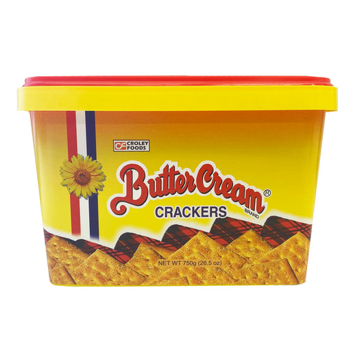 Package Croley Foods Sunflower Crackers Butter Cream - Regular 28.2oz Front