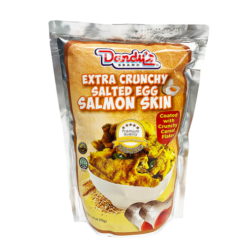 Dandy's Extra Crunchy Salted Egg Salmon Skin with Cereal Flakes 4oz Front