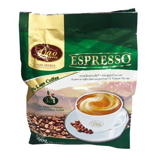 Package Dao Instant Coffee 3 In 1 - Espresso 17.6oz Front
