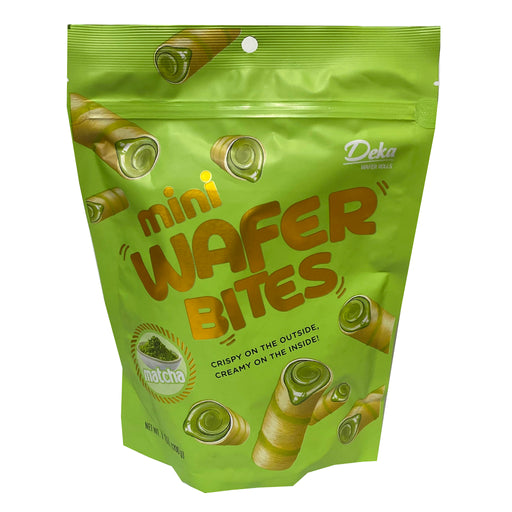 Package Deka Wafer Bites Matcha Flavor 7oz Front