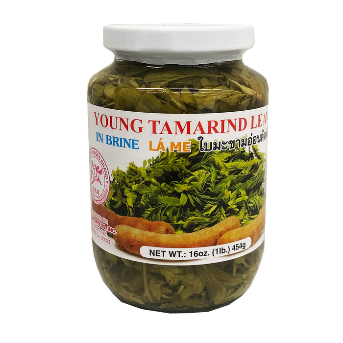 Double Horses Young Tamarind Leaves In Brine 16oz Front