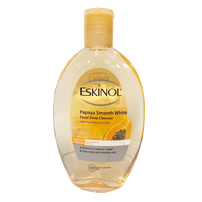Eskinol Classic Papaya Smooth White Deep Cleanser with Pure Papaya Extract 7.6oz Front