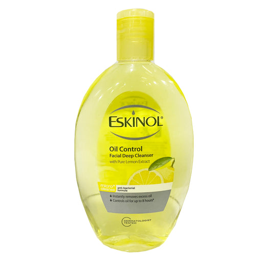 Eskinol Oil Control Facial Deep Cleanser with Pure Lemon Extract 7.6oz Image 1