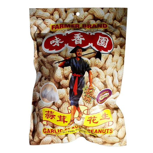 Farmer Brand Roasted Peanuts - Garlic Flavor 10.58oz Image 1