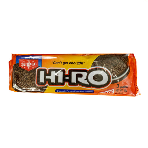 Fibisco Hi-Ro Chocolate Flavored Sandwich Cookies 1.16oz Front