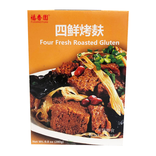 Fu Xiang Yuan Four Fresh Roasted Gluten 9.8oz Front