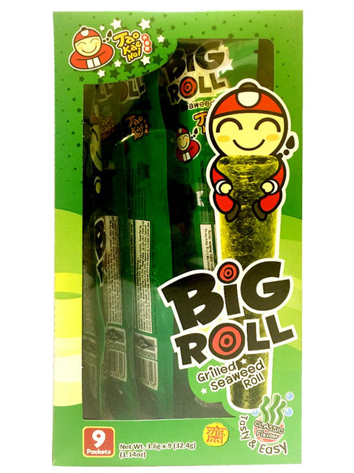 Package Tao Kae Noi Grilled Seaweed Roll - Original Flavor 1.14oz Front