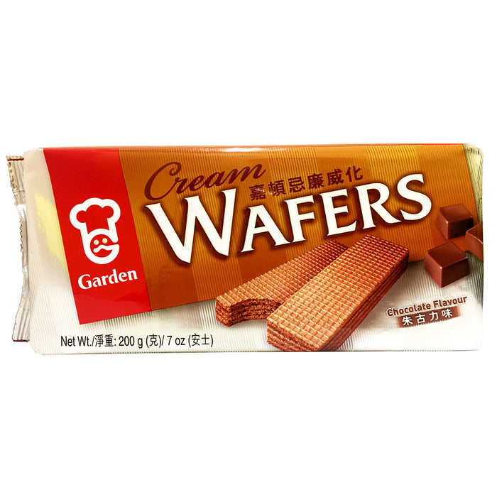 Garden Cream Wafers - Chocolate 7oz Front