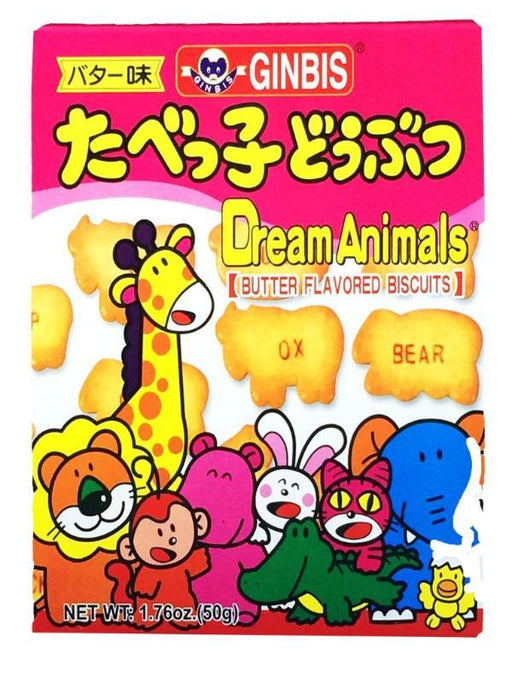 Ginbis Dream Animal Biscuits - Butter Flavor 1.76oz Front