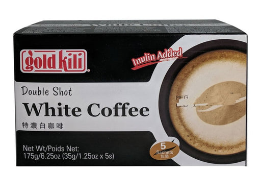 Package Gold Kili Double Shot White Coffee 6.25oz Front