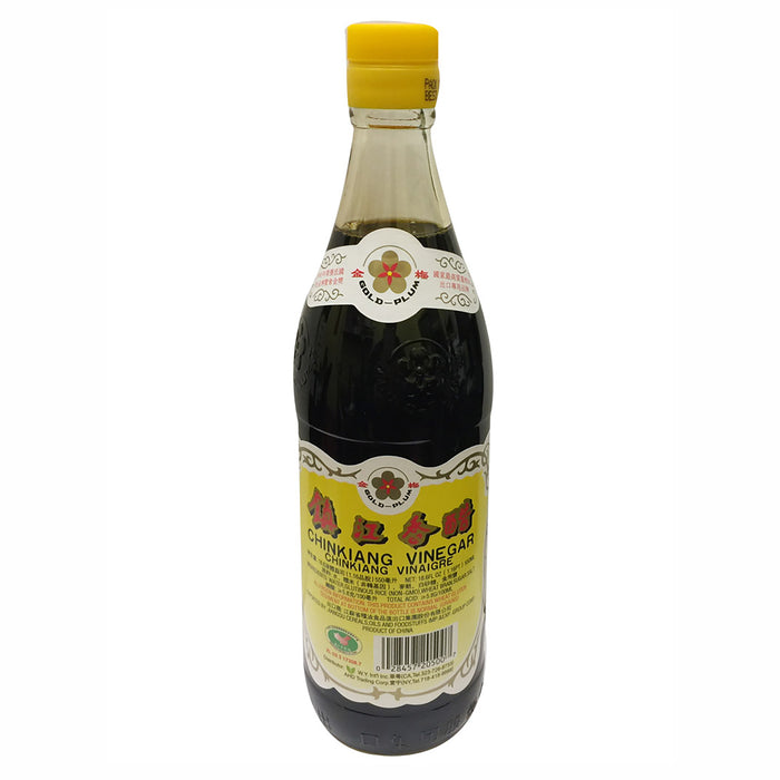 Package Gold Plum Chin Kiang Black Vinegar 18.6oz Front