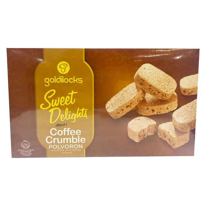 Goldilocks Sweet Delights Polvoron Coffee Crumble 10.6oz Front