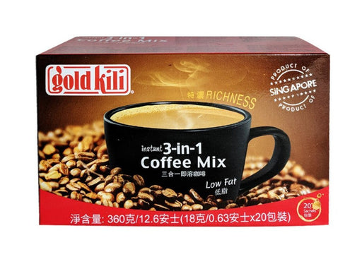 Gold Kili 3 in 1 Coffee Mix 12.6oz Front