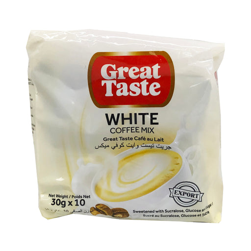 Great Taste White Coffee Mix 10 Pack 10.58oz front