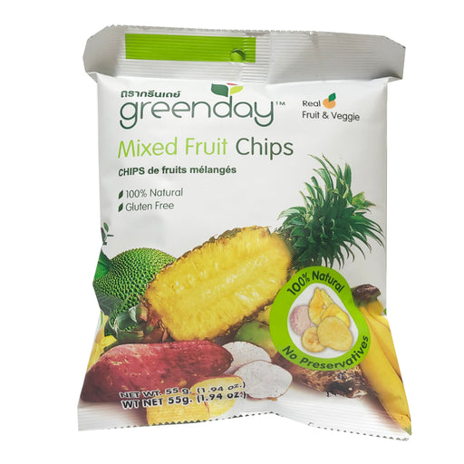 Greenday Mixed fruit Chips 1.94oz Front
