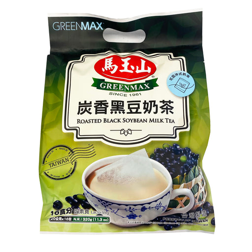 Greenmax Roasted Black Soybean Milk Tea 11.3oz Front