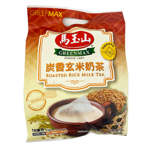 Greenmax Roasted Rice Milk Tea 11.3oz Front