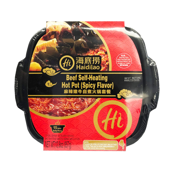 Hai Di Lao Self-Heating Hot Pot Beef Spicy Flavor 12.06oz Front