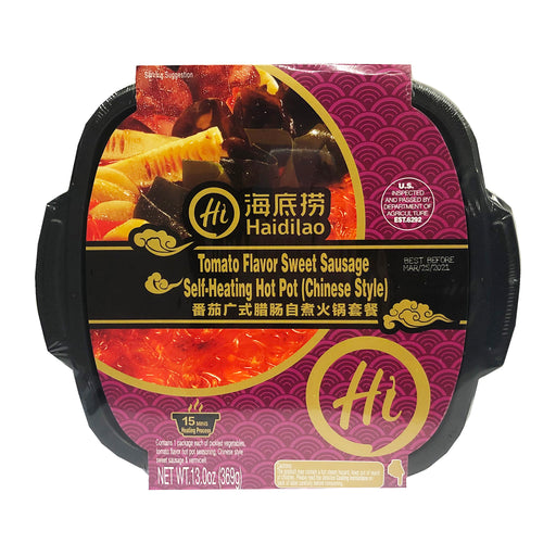 Hai Di Lao Self-Heating Hot Pot Tomato Flavor Sweet Sausage Chinese Style 13oz image 1