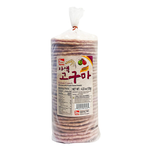 Haitai Korean Crunch Rice Pop with Purple Sweet Potato 4.23oz
