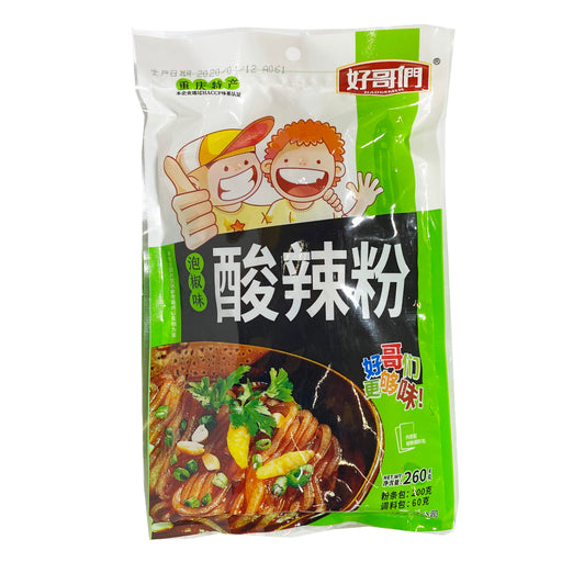 Haogemen Chongqing Style Potato Starch Vermicelli Pickled Chili Flavor 9.17oz Front