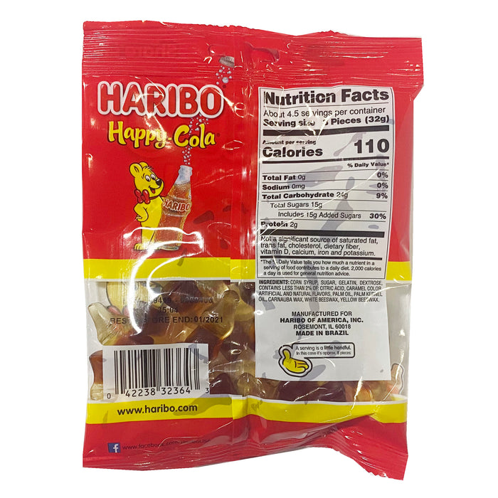 Haribo Happy Cola Gummi Candy 5oz Back