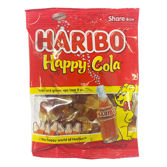 Haribo Happy Cola Gummi Candy 5oz Front