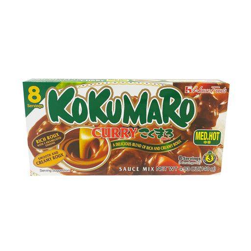 House Foods Kokumaro Curry Sauce - Medium Hot Flavor 4.93oz Front