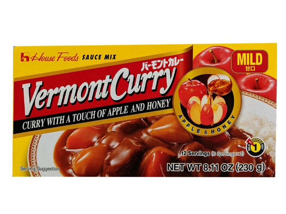 House Foods Vermont Curry Sauce - Mild Flavor 8.11oz Front