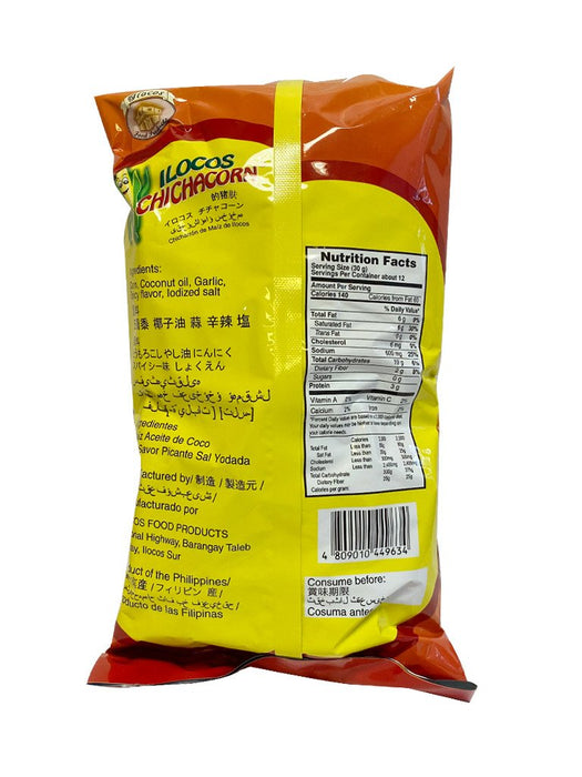 Ilocos Chichacorn Spicy 12.35oz Back