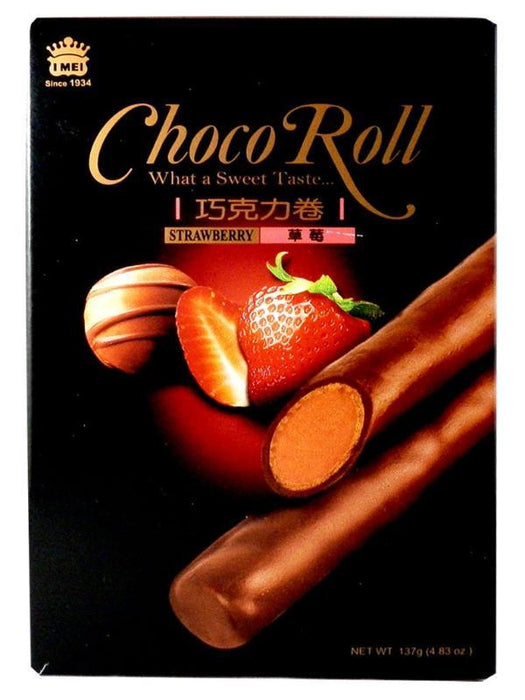 Imei Choco Roll - Strawberry Flavor 4.83oz