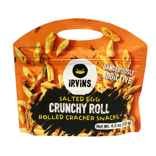 Package Irvins Salted Egg Crunchy Roll Crackers 4.2oz image 1
