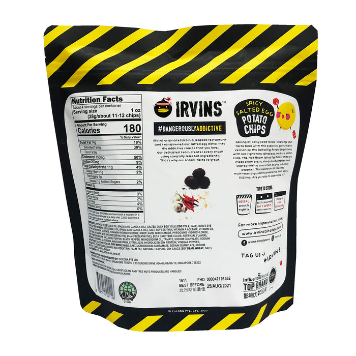 Irvins Salted Egg Potato Chips - Spicy 3.7oz image 2