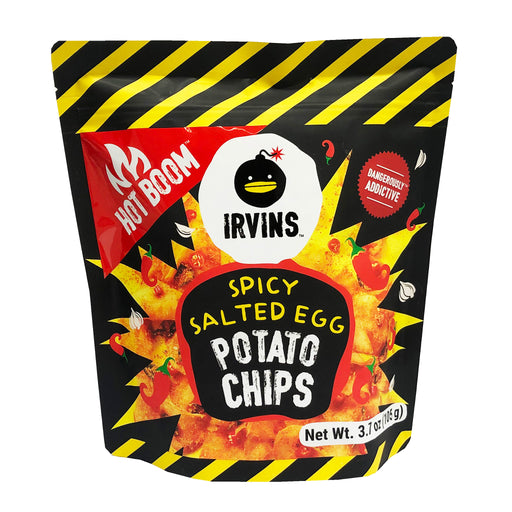 Package Irvins Salted Egg Potato Chips - Spicy 3.7oz image 1