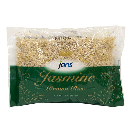 Jans Jasmine Brown Rice 16oz Front