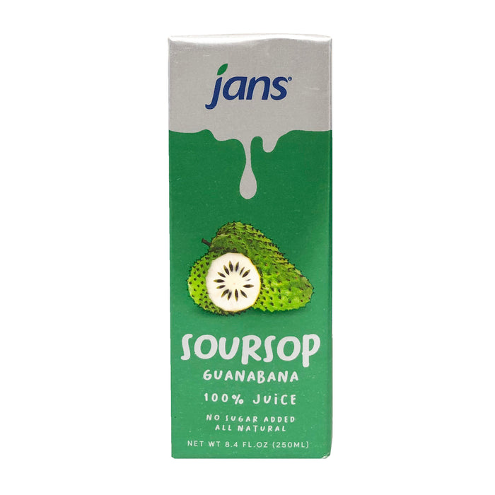 Jans Soursop Juice 8.4oz Front