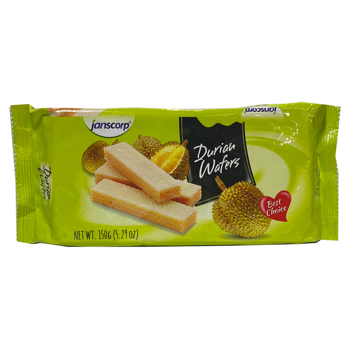 Jans Wafer Durian Flavor 5.29oz Front