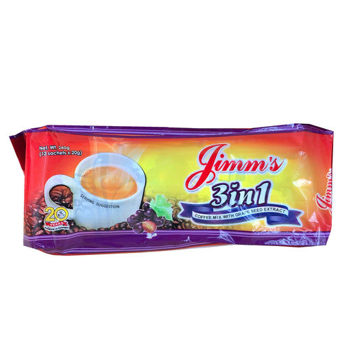 Jimms 3 in 1 Coffee Mix With Grape Seed Extract 8.46oz Front