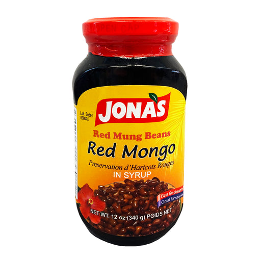 Jonas Red Mung Beans In Syrup - Red Mongo 12oz Front