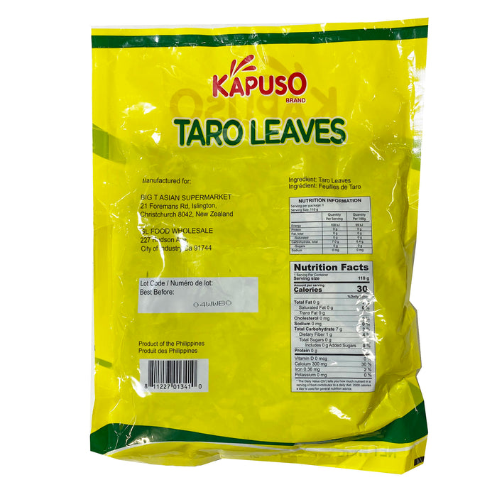 Kapuso Dried Taro Leaves 4oz Back