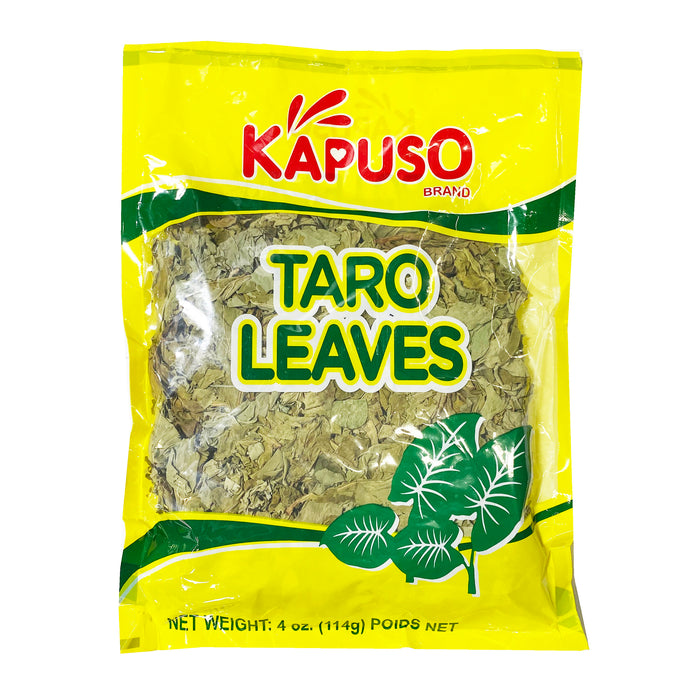 Kapuso Dried Taro Leaves 4oz Front